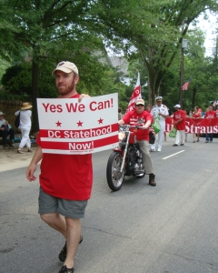 Marching for Statehood in the Palisades Parade