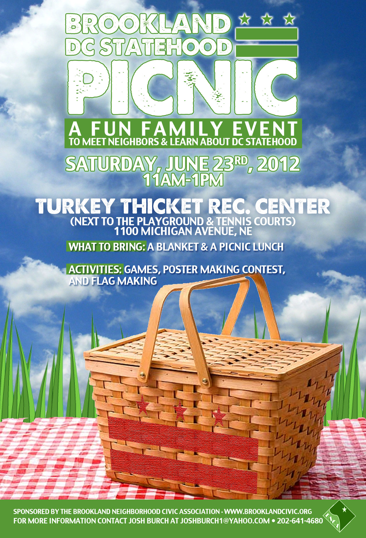 SAVE THE DATE: June 23rd, Brookland DC Statehood Picnic   Neighbors ...
