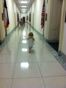 2 year old storming the Halls of Congress