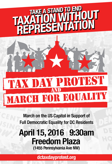 Tax Day Protest & March for Equality